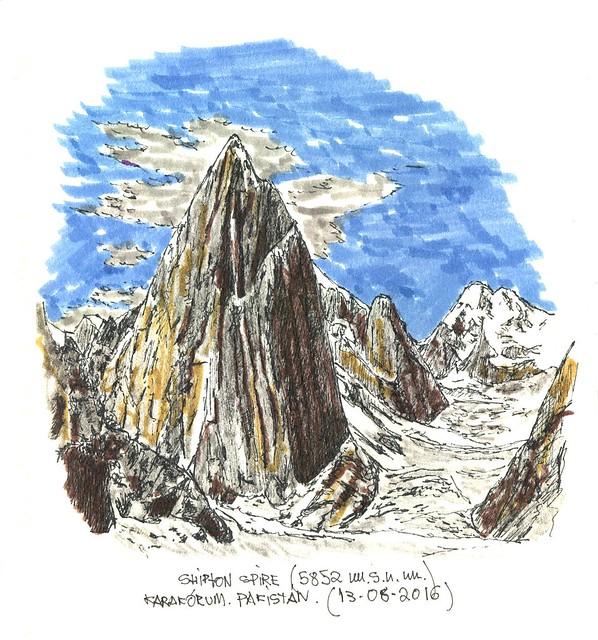 Shipton Spire (5.852 m.s.n.m.)