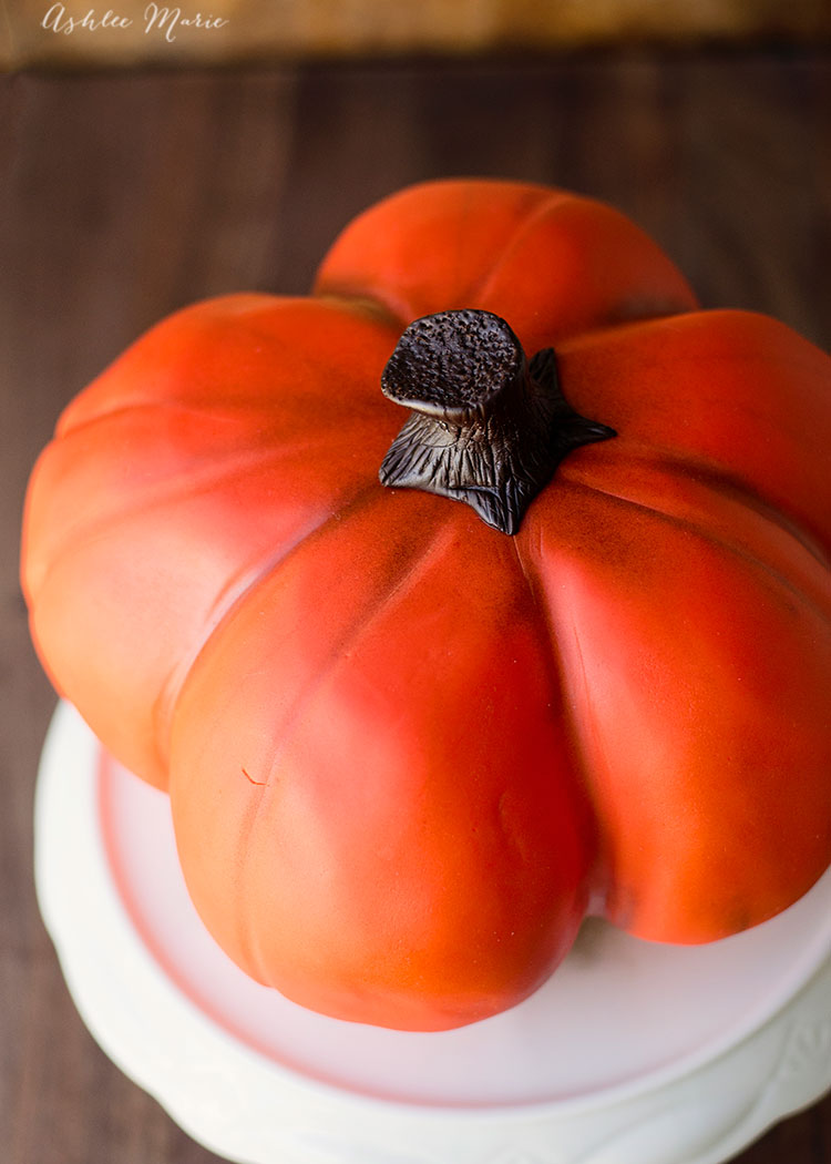 I carve a pumpkin cake every year - every year it looks a little different - check out this video tutorial so you can make your own