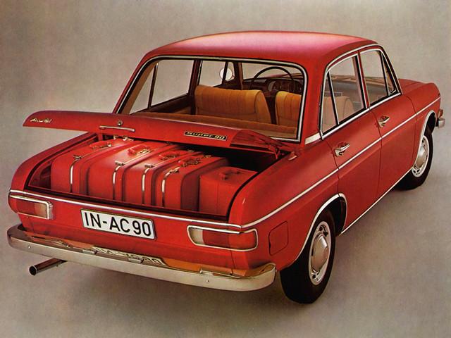Седан Audi Super 90. Вместительный багажник. 1966 – 1971 годы