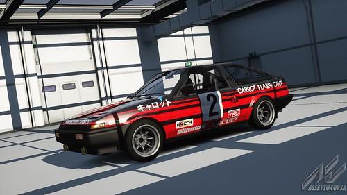 Toyota AE86 - Advan Carrot Racing - Keiichi Tsuchiya - Fuji Freshman Series 1984 (2)