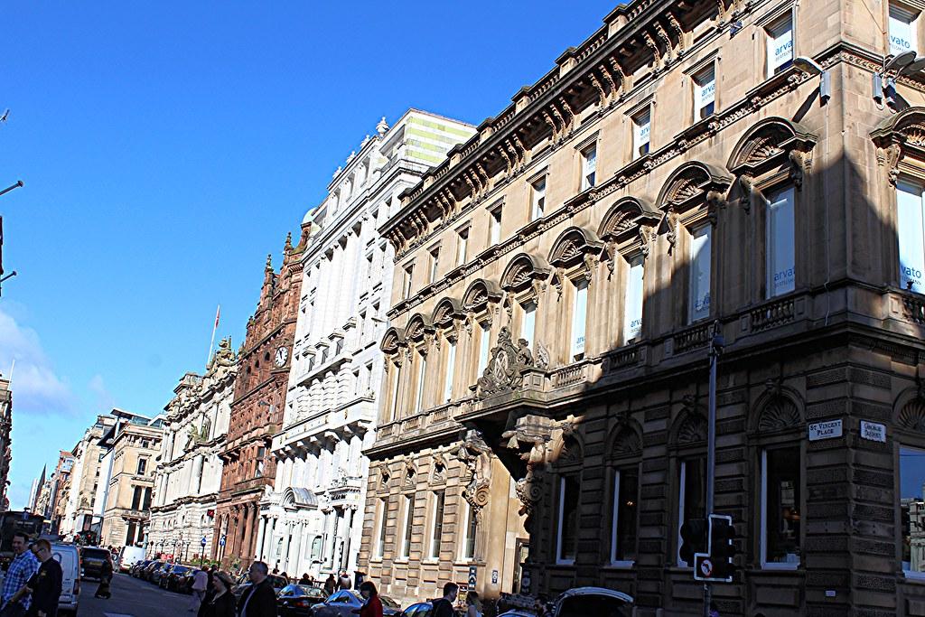 St Vincent Place and St Vincent Street, Glasgow, Scotland.