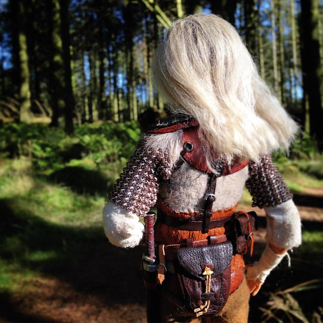 Aeryn the Nord Sellsword. . . #barbie #custombarbie #customdoll #dollphotography #sixthscale #6thscale #playscale #dollstagram #instadoll #skyrim #skyrimfigure #dollsofinstagram #barbiemadetomove