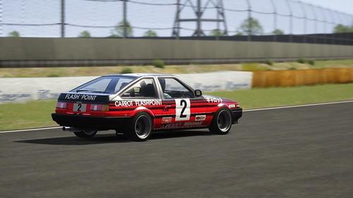 Toyota AE86 - Advan Carrot Racing - Keiichi Tsuchiya - Fuji Freshman Series 1984 (4)