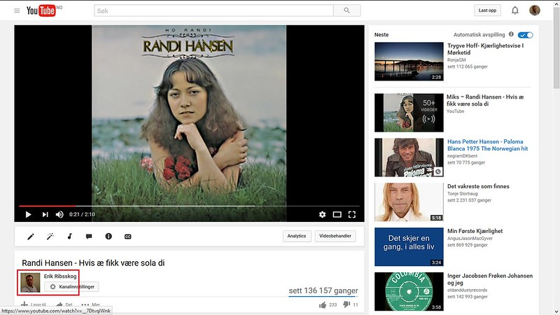 mer om randi hansen video youtube