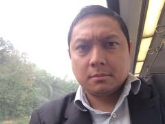 Self-portrait on Metro