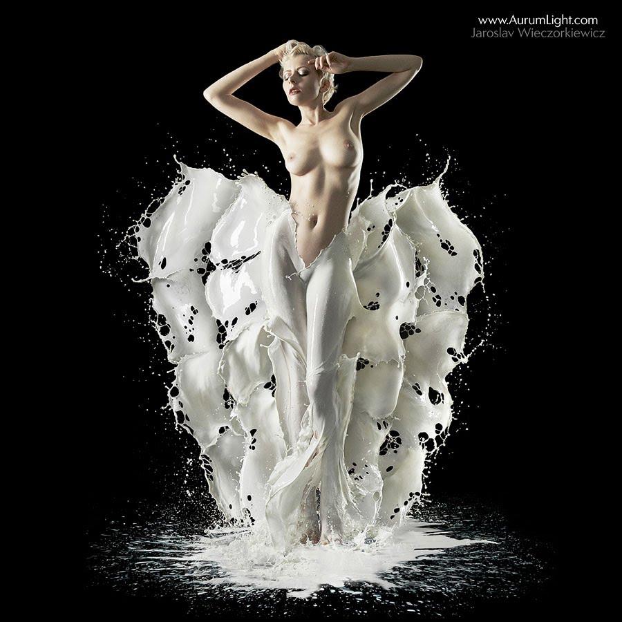 Молоко и вода – все, что нужно для создания наряда - ПоЗиТиФфЧиК - сайт позитивного настроения!
