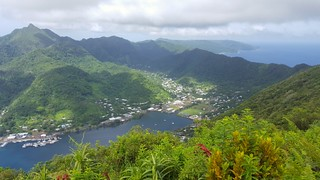 The view from atop Mount Alava of Pago Pago Harbor
