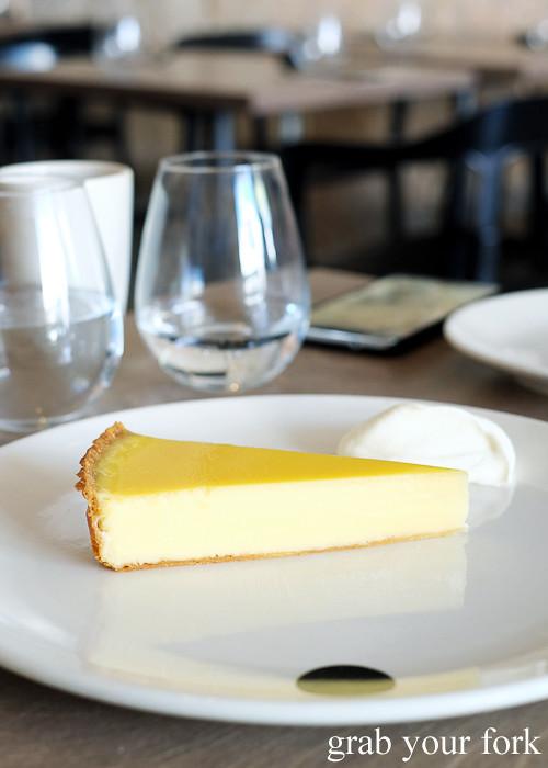 Lemon tart at Saint Peter by Chef Josh Niland in Paddington Sydney