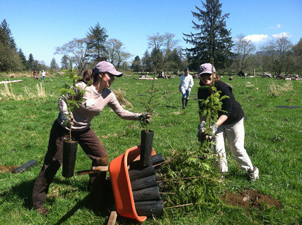 Katie & Jeanne, Earth Day at Circle Creek 2012 | by North Coast Land Conservancy