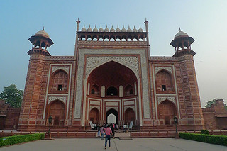 Agra - Taj Mahal main  gate