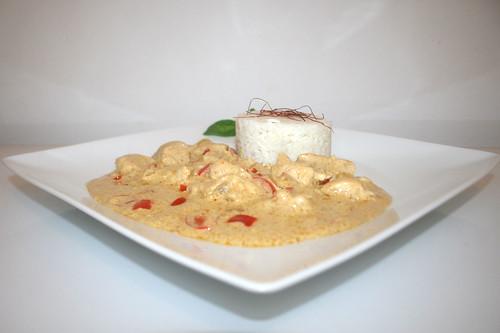 51 - Tandoori turkey in youghurt sauce - Side view / Tandoori-Pute in Jooghurtsauce - Seitenansicht