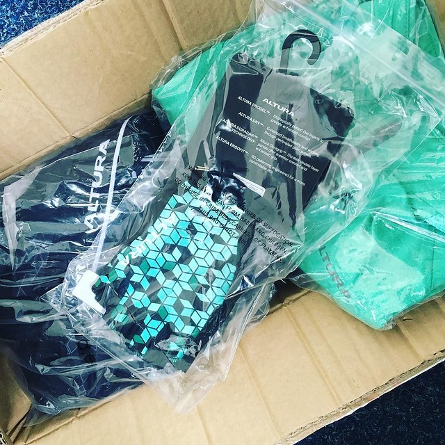 All the green goodness in from @alturacycling today! Can't wait to get some of these beauties out on the road! #cyclingblogger #fitnessblogger #ride100