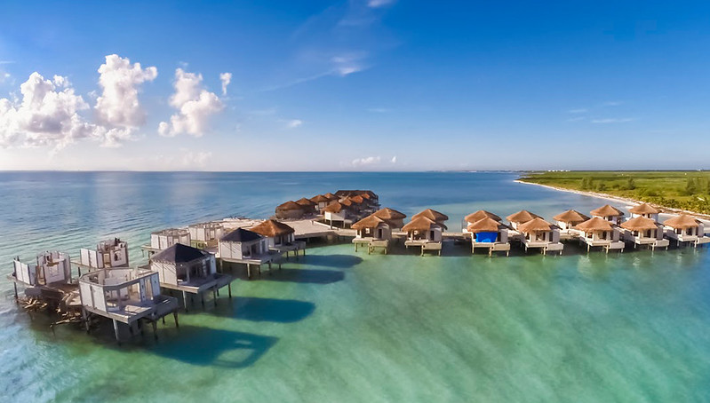 Mexico Over The Ocean Water Hotel Rooms Glass Bottom Floors