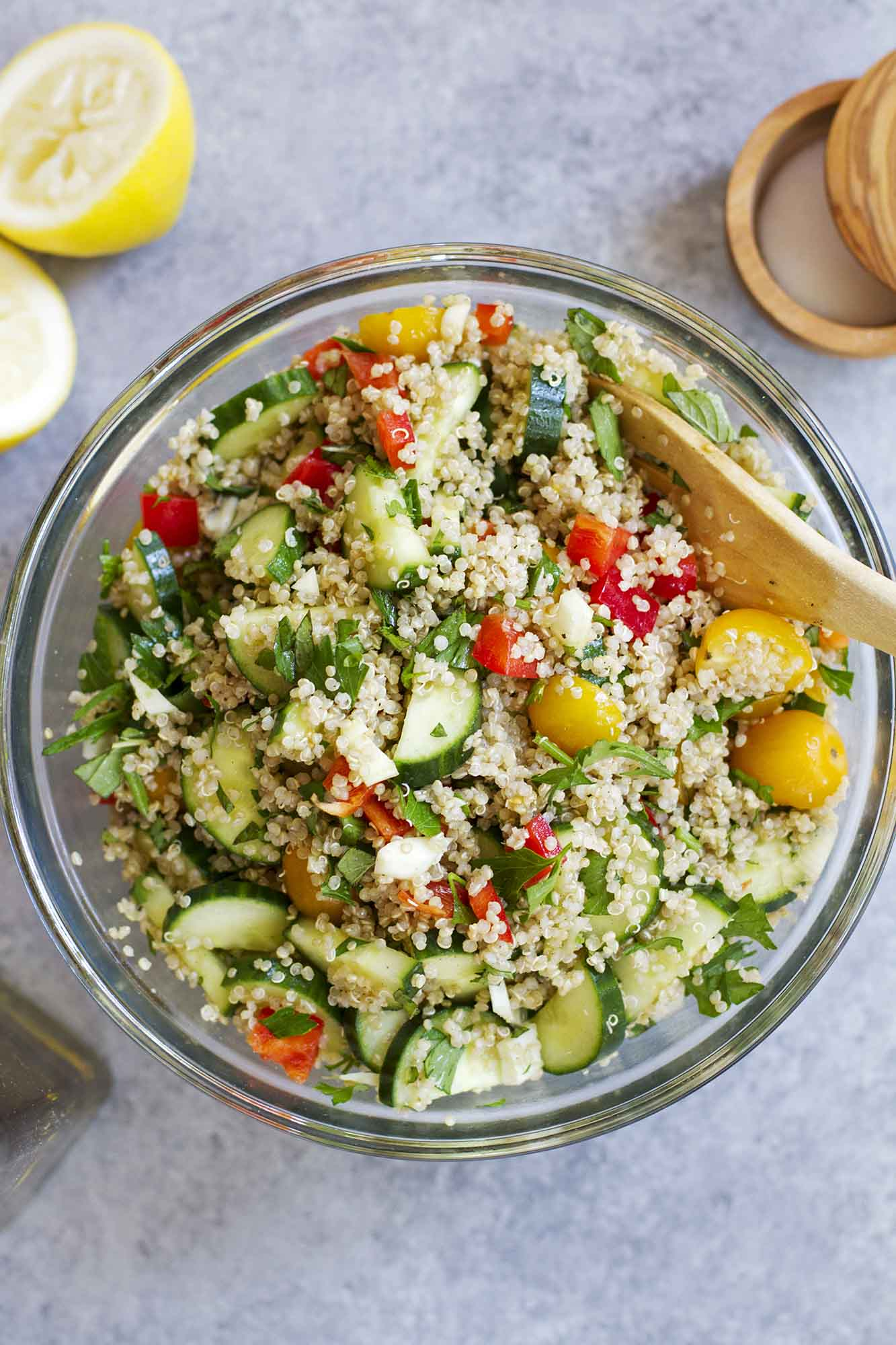 Summer Vegetable Quinoa Tabbouleh | girlversusdough.com @girlversusdough