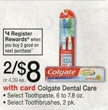 Free Colgate Toothbrushes