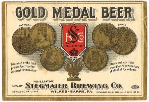Gold-Medal--Beer-Labels-Stegmaier-Brewing-Company