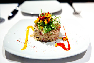 "Dungeness Crab ""Txangurro,"" Mango, Peppers, Basil, Salpicon 