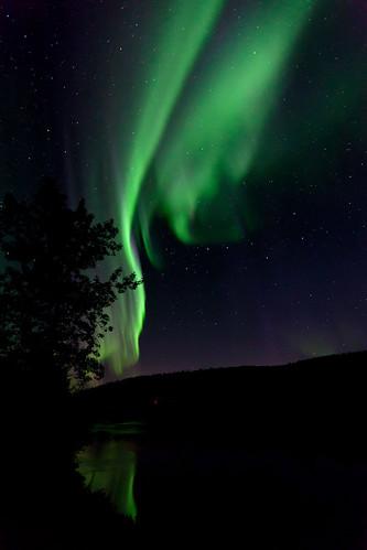 090216 - lights racing through a starry sky