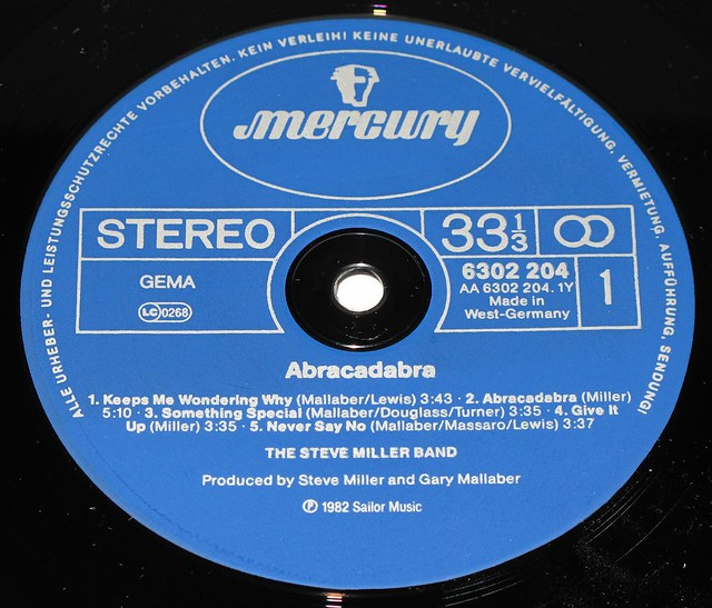 "STEVE MILLER BAND Abracadabra 12"" LP"