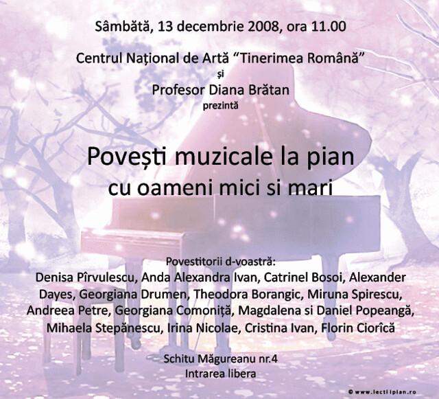 Afisele recitalurilor Scolii de Muzica PianoForte