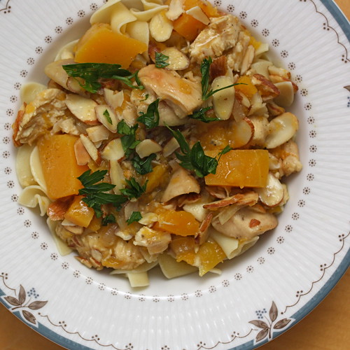 Chicken Stew with Cider, Butternut Squash, and Shallots | by .mariannika.