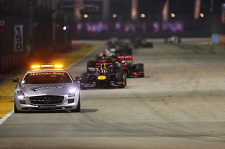 Safety Car leads Sebatian Vettel | by AGPCF1