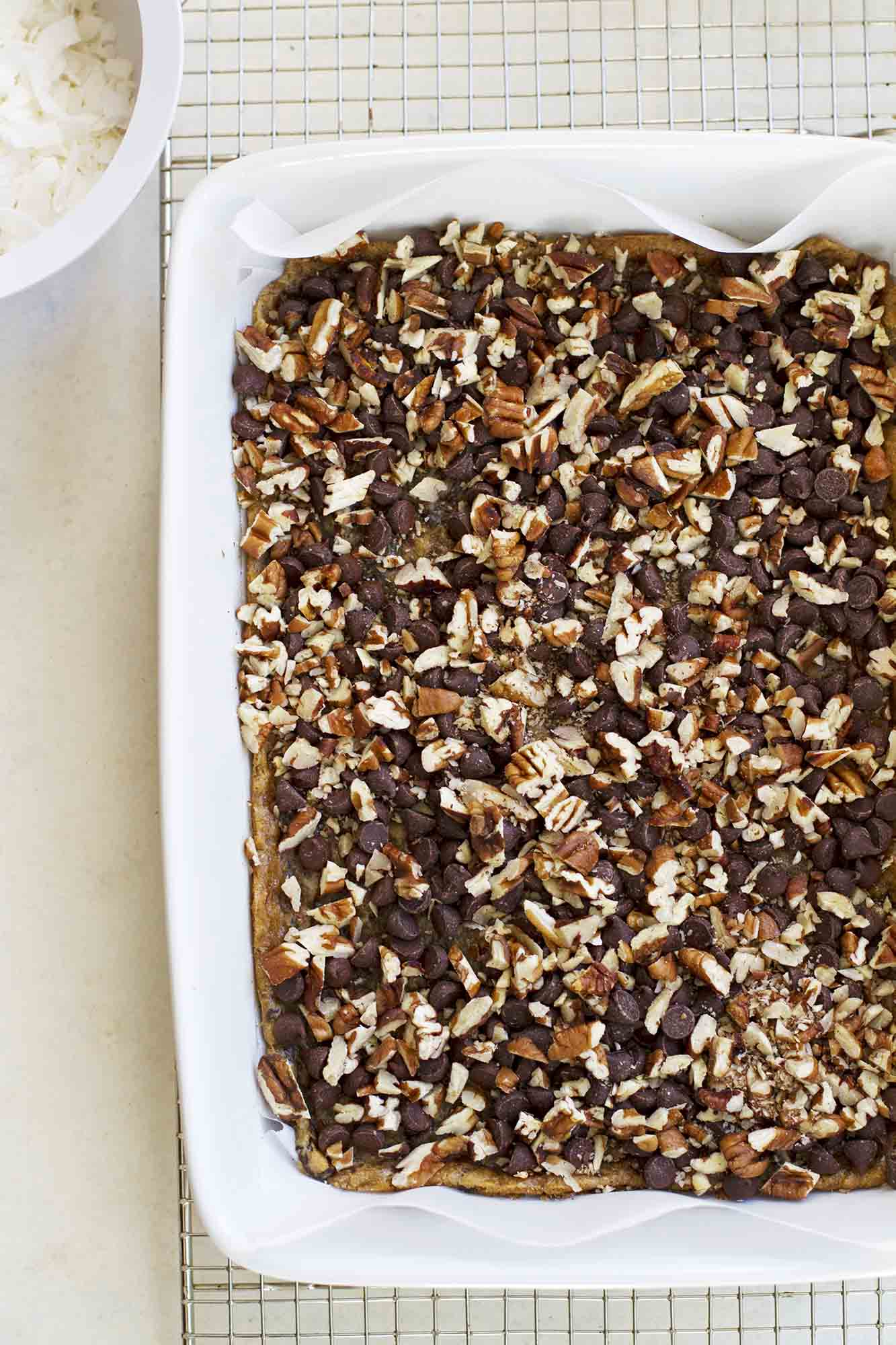 Caramel Coconut Chocolate Chip Bars   girlversusdough.com @girlversusdough