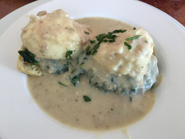 Homemade biscuits with chicken-apple sausage gravy - Farm House Local