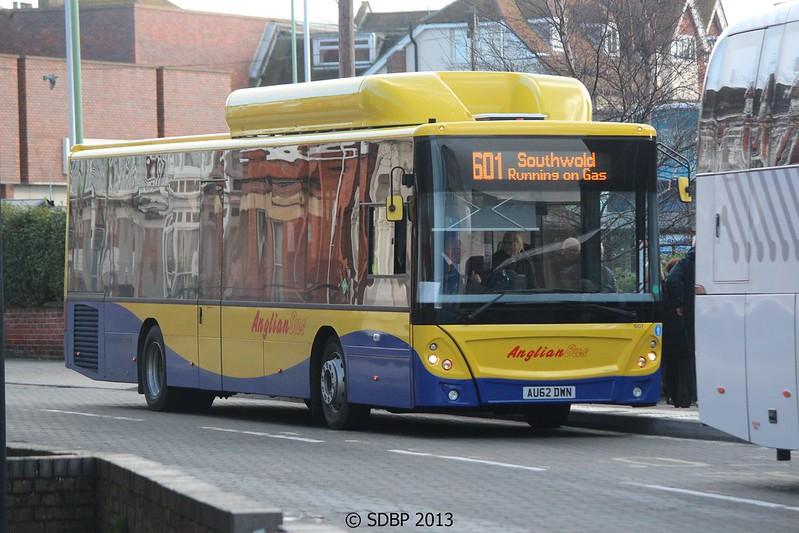 Anglian Bus - 601 - AU62 DWN - Route 601