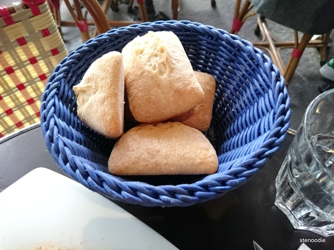 French baguettes in basket
