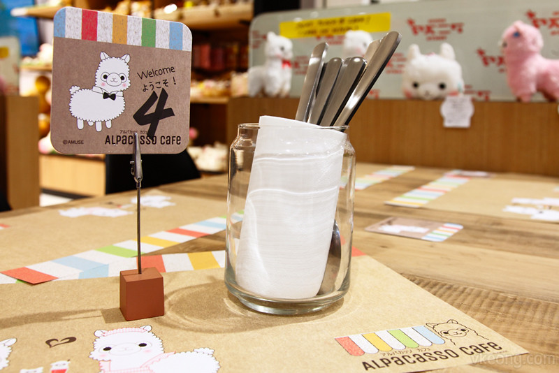 Alpacasso Cafe Table Number