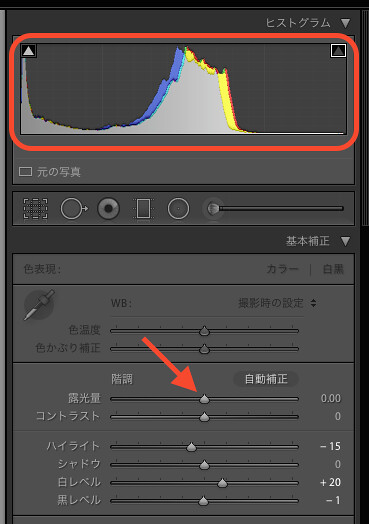 histogram, Lightroom5