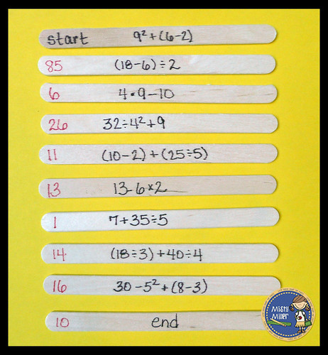 Math Stations I Have, Order of Operations, Quick Math Activities