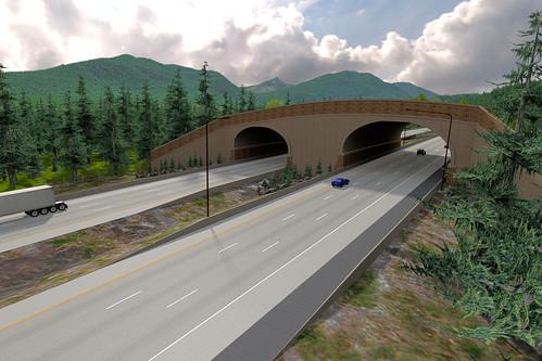 I-90 Wildlife Overcrossing Archway Installation