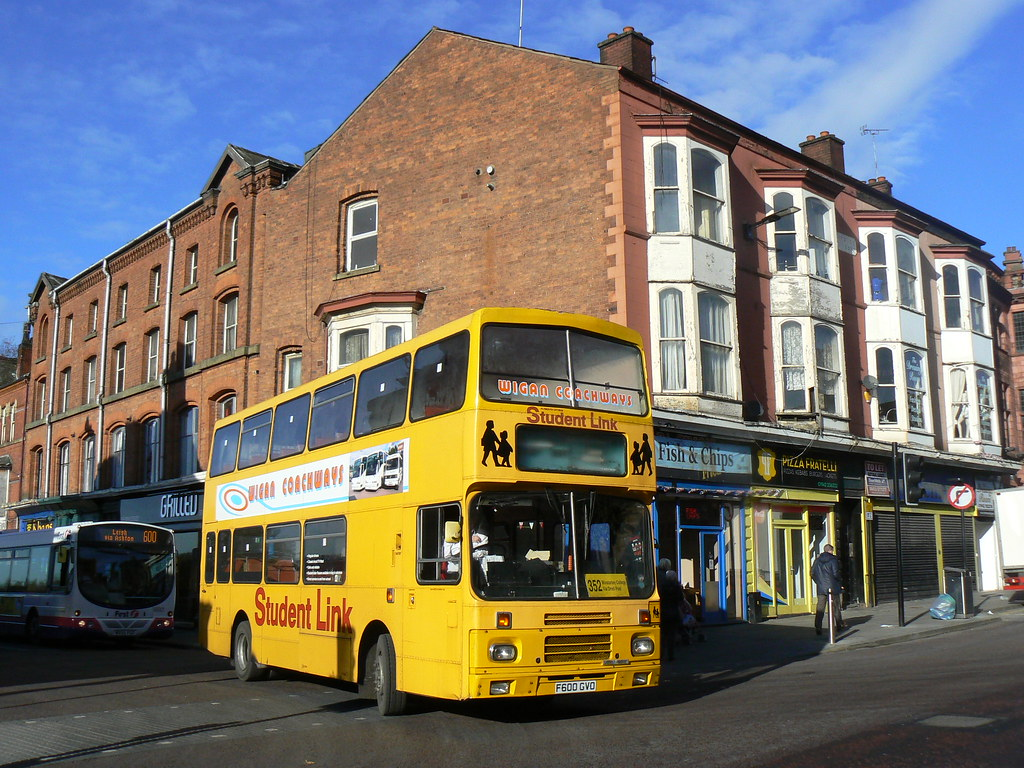Wigan Coachways F600GVO in Wigan