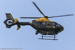 G-ESEX - 2002 build Eurocopter EC135 T2+, temporarily operating out of the Police ASU at Barton