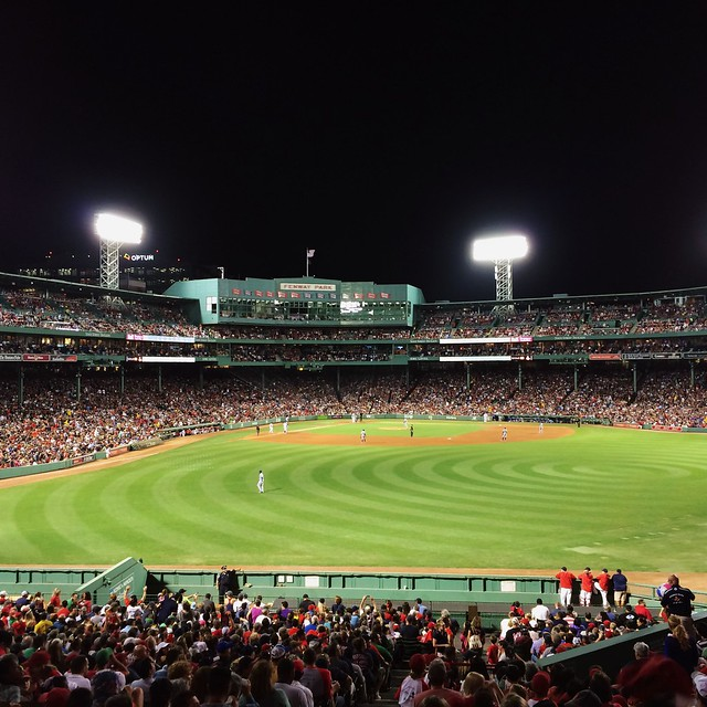 Fenway is my happy place. #gosox #IloveyouPapi #bostonsummer