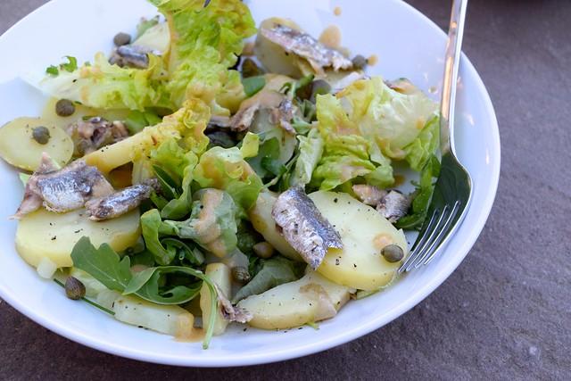 Anchovy, Caper & Potato Salad with French Vinaigrette   www.rachelphipps.com @rachelphipps