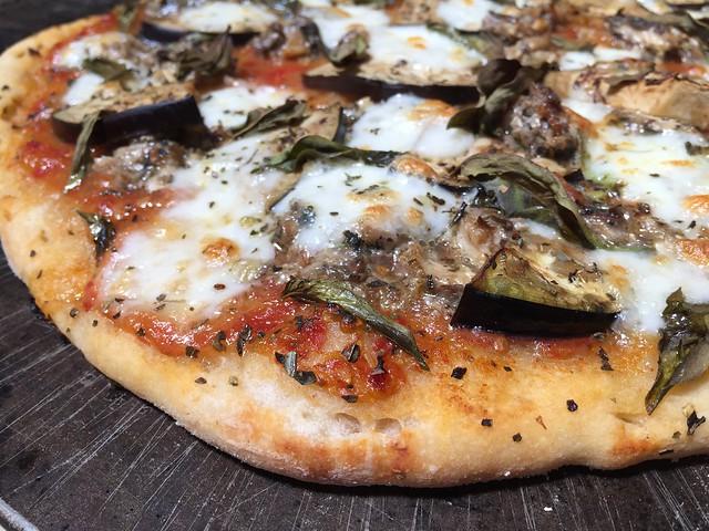 Sardine / Eggplant pizza