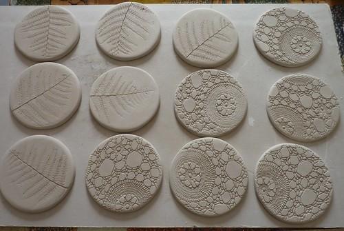 Clay coasters