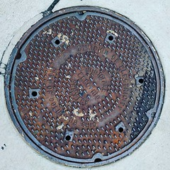 #Columbus Division of Electricity #manholecover