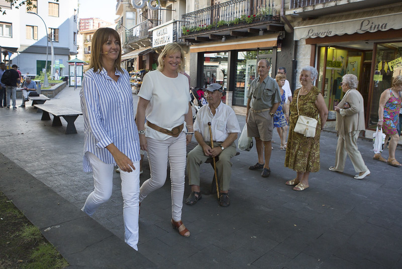 Idoia Mendia y Susana Corcuera en Errenteria