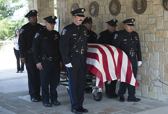 SMU Police Office Mark McCullers Funeral