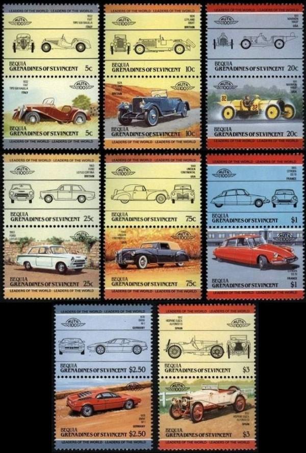 Známky Bequia-Grenadíny Sv.Vincent 1984 Autá