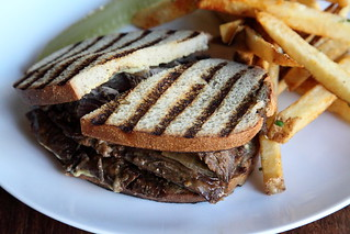Smoked meat sandwich, Le Pescadeux, Thompson Street, Manhattan | by Eating In Translation