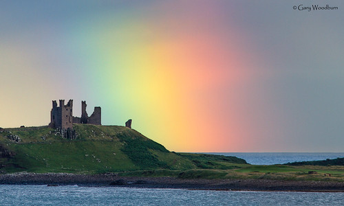 Pot of Gold - Rainbow, Dunstanburgh Castle, Northumberland