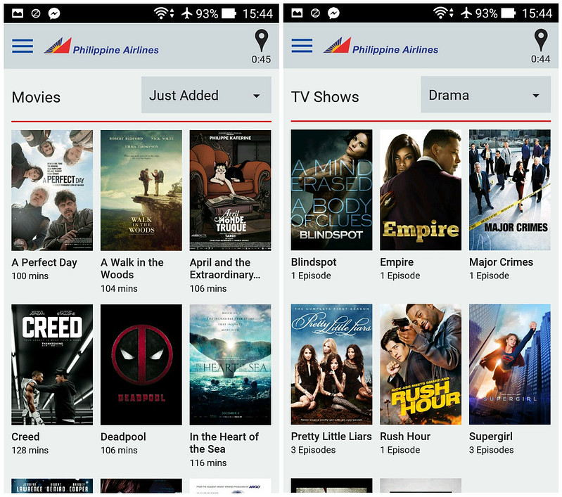 Movies and TV Shows page