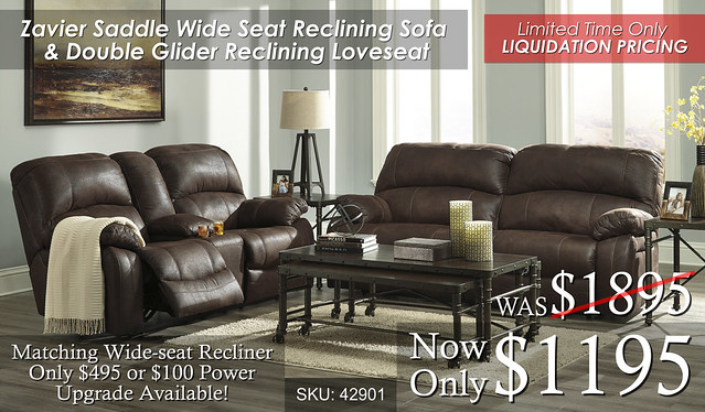 Zavier Saddle Reclining Set SALE