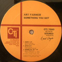 ART FARMER:SOMETHING YOU GOT(LABEL SIDE-B)