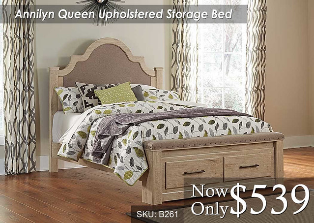 Annilyn Queen Upholstered Storage Bed